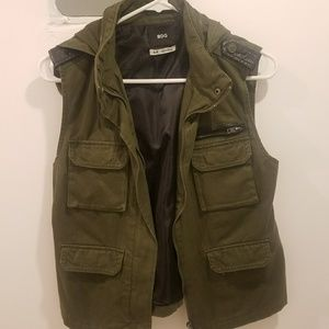 Green vest. From urban outfitters.